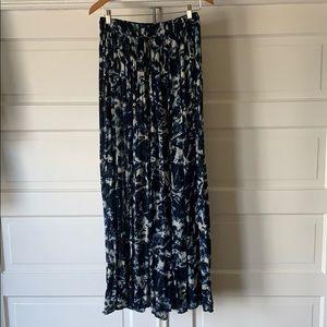 beautiful blue ocean looking maxi skirt